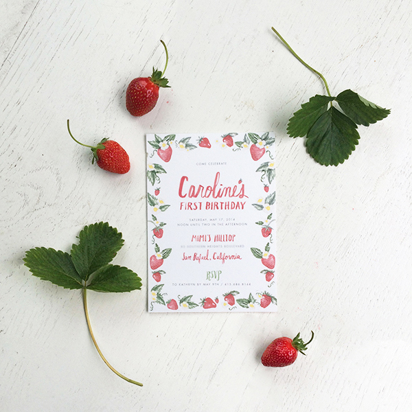 1a-strawberry-first-birthday-party-invitations-snippetandink-leah-mccormick