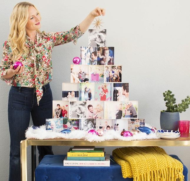 Emily-Henderson-Holiday-Tiny-Prints-acrylic-block-christmas-tree-instagram