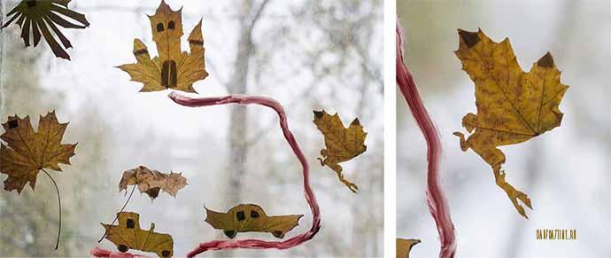 Осенние листья для детей. Идеи для игр