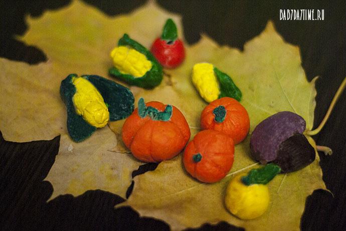 Овощи и фрукты из соленого теста