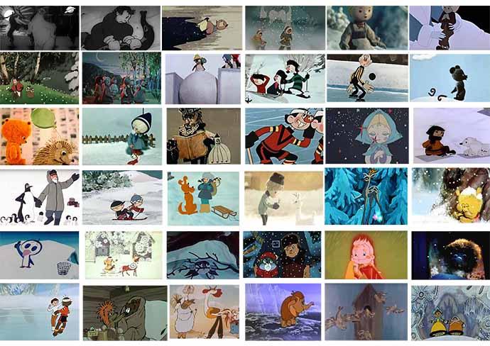 Зимние мультфильмы (большая подборка)