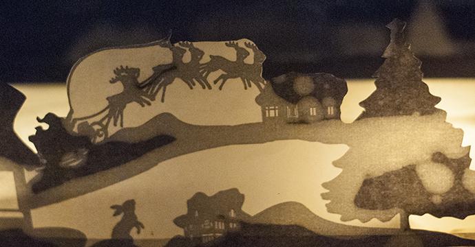 Украшение на окна из бумаги (с подсветкой) - трафарет