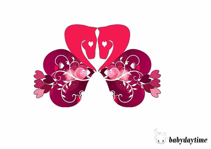 Аппликации из сердечек