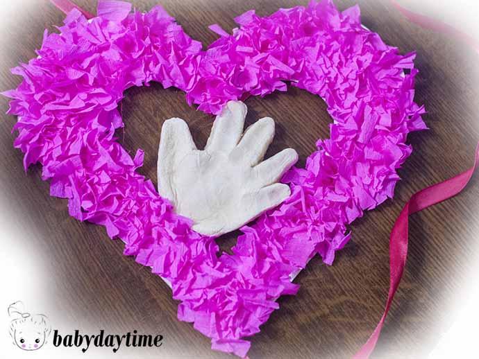 Топиарий «Сердце» из салфеток в технике торцевание