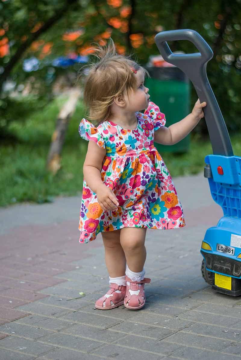 Пошив летнего платья для девочки