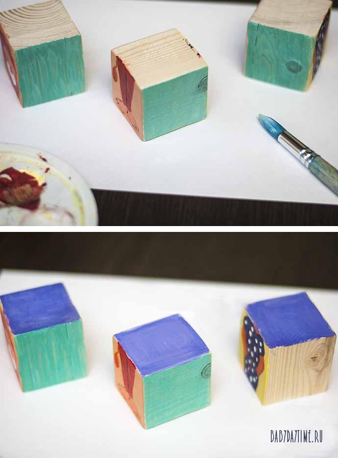 конструктор кубики животные