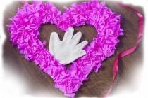 Объемное сердце из гофрированной бумаги своими руками