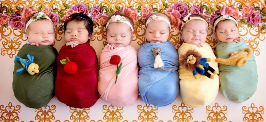 Маленькие девочки дети много девочек младенцы